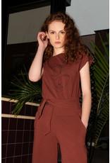 Eve Lavoie T-shirt Matisse - Rouille visages