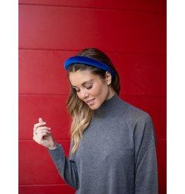 Gibou Bandeau auréole velours - Bleu royal