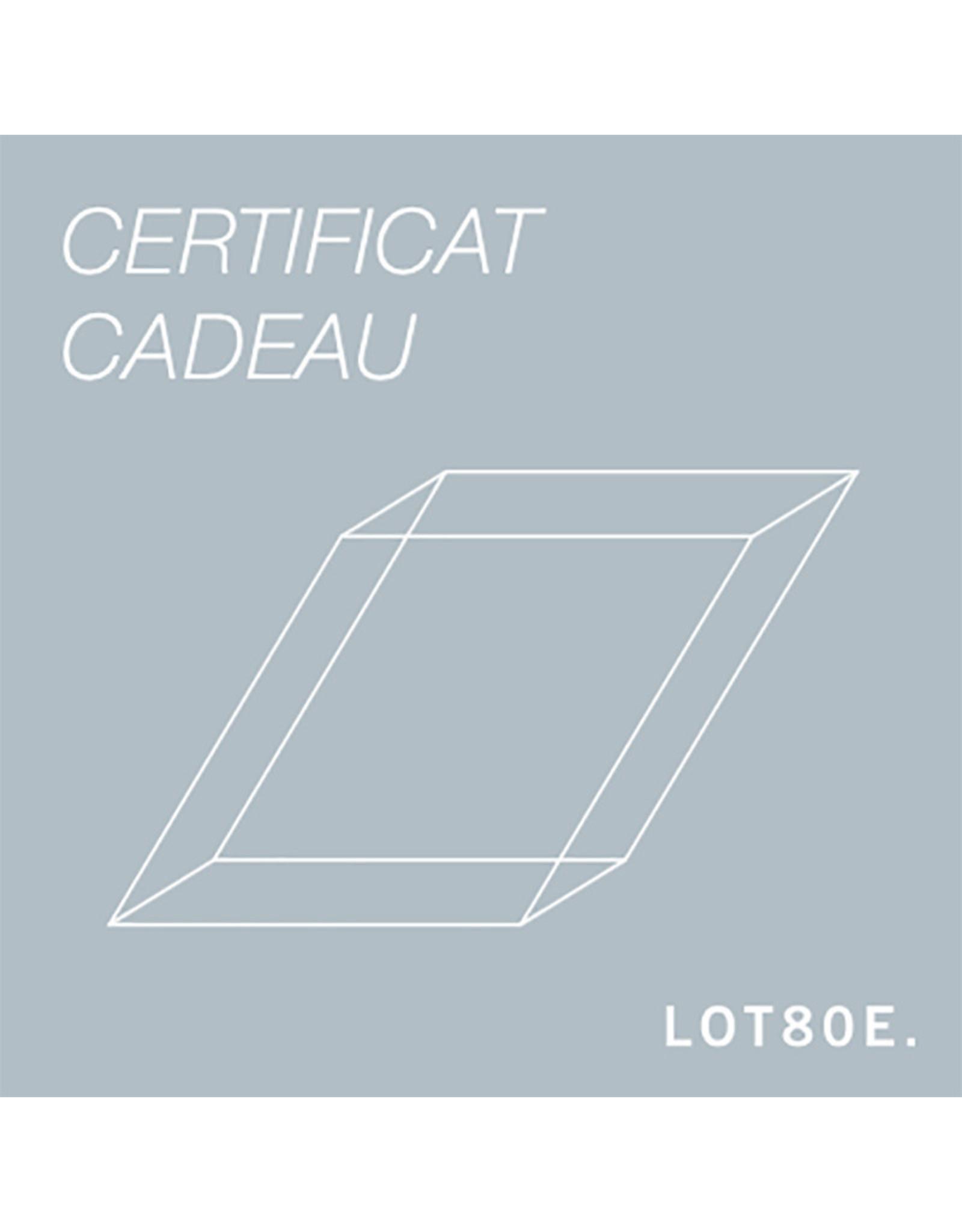 LOT80E. Certificat cadeau