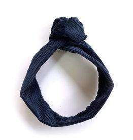 Gibou Bandeau à torsadé velours cotelé - Bleu