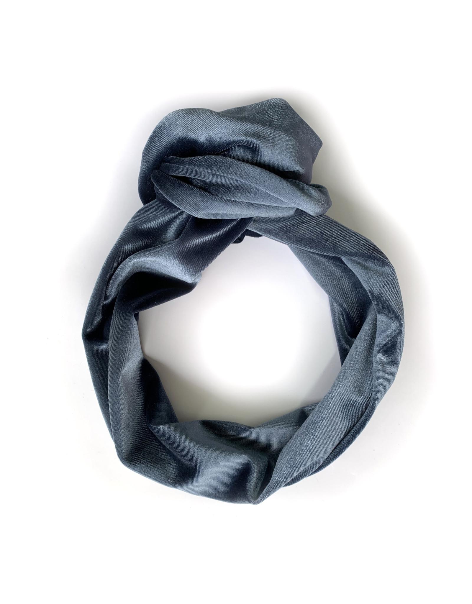 Gibou Bandeau velours XL à torsader - Bleu