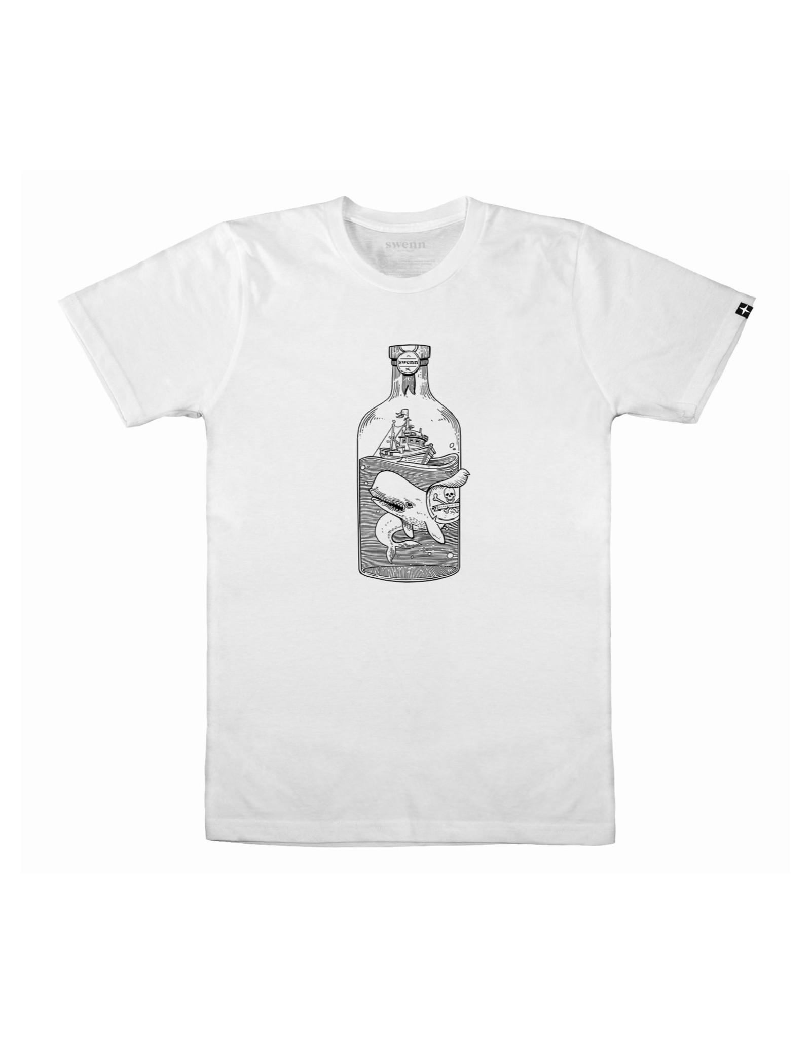 Swenn T-shirt unisexe Baleine - Blanc