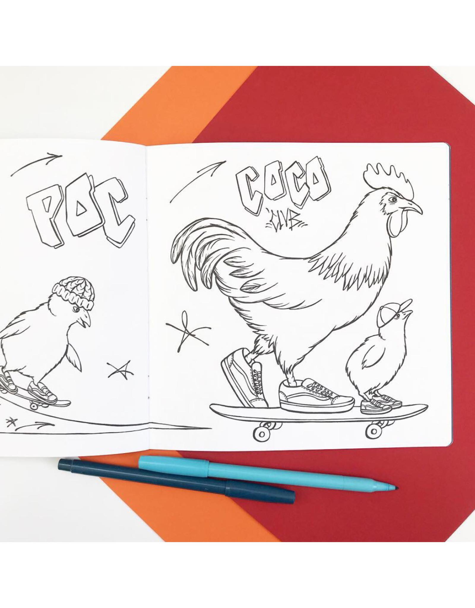 Amélie Legault Cahier à colorier Les poules à la mode