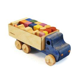 Le Trusquin Jeu de blocs de bois avec son camion
