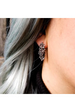 Inchoo Bijoux Boucles d'oreilles Rose dentelle