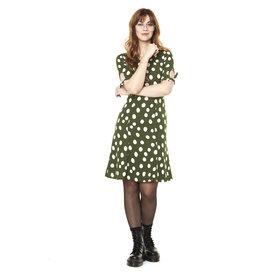Annie 50 Robe Lola vert à pois