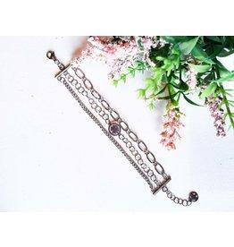 Les pensées bijoux Triple bracelet trèfle