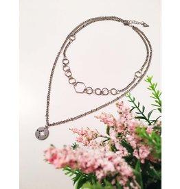 Les pensées bijoux Collier double Boussole