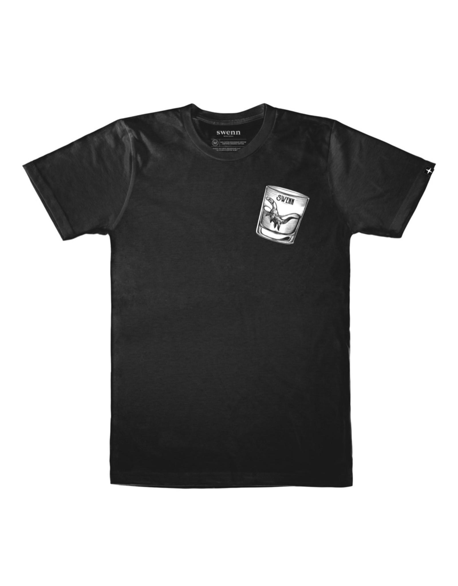 Swenn T-shirt unisexe dinosaure noir