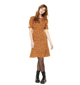 Annie 50 Robe Lola Fleurs moutarde