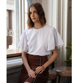 Lépidoptère T-shirt Azur blanc