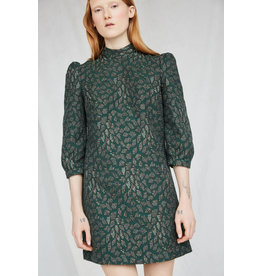 Eve Gravel Robe Cold Mountains Emerald jacquard