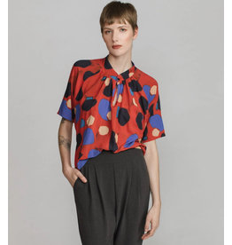 Allison Wonderland Blouse Crocket rouge