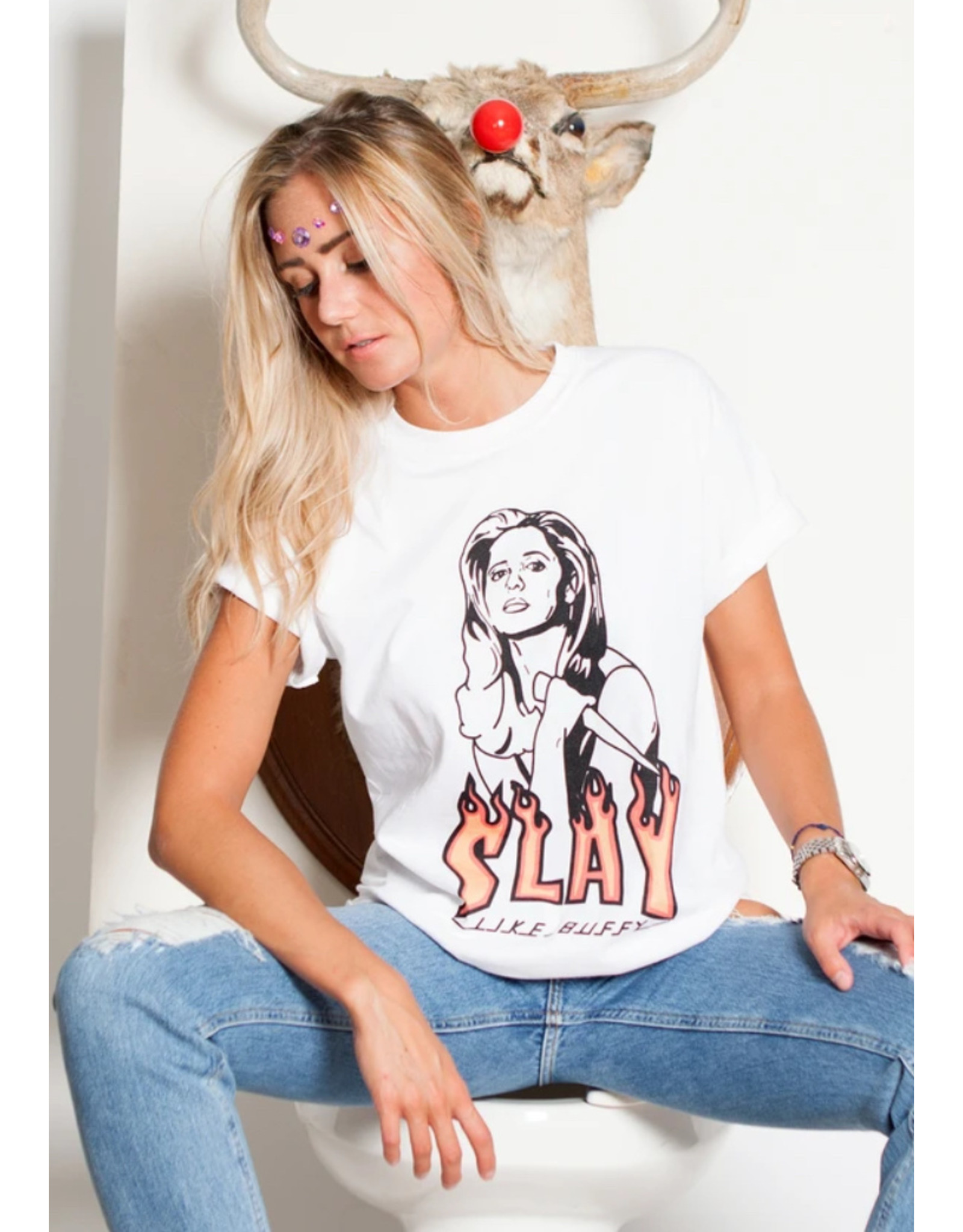 Spilt Milk T-shirt Slay like Buffy