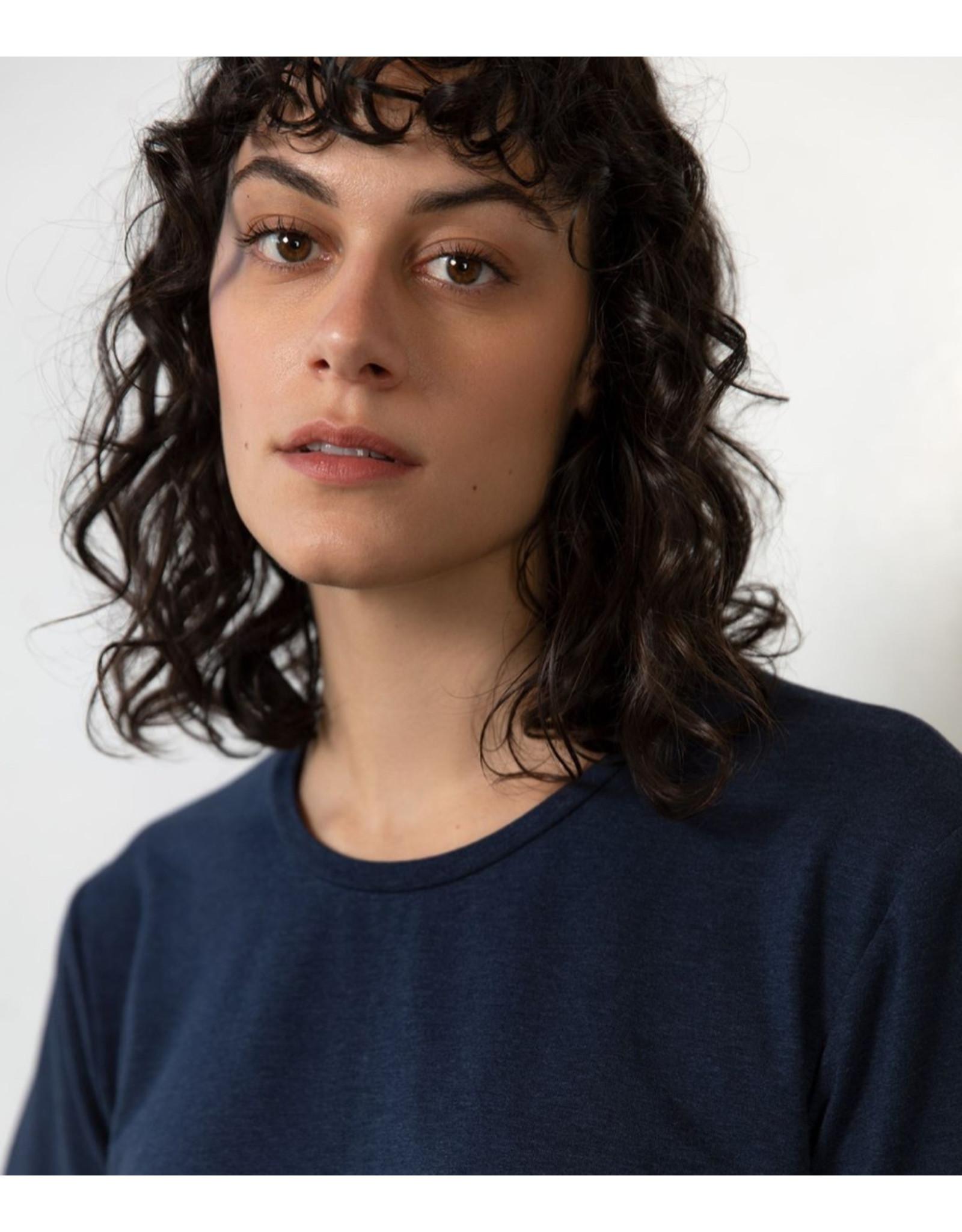 Lépidoptère T-shirt Agathe bleu marin