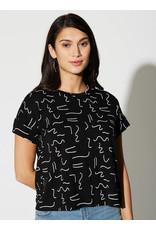 Cherry Bobin T-shirt Robinson abstrait 80s