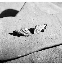 THIS ILK Boucles d'oreilles Talaria noir &  argent