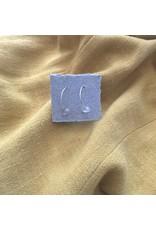 Les Parcelles Boucles d'oreilles Miniminimalistes - pierres transparentes