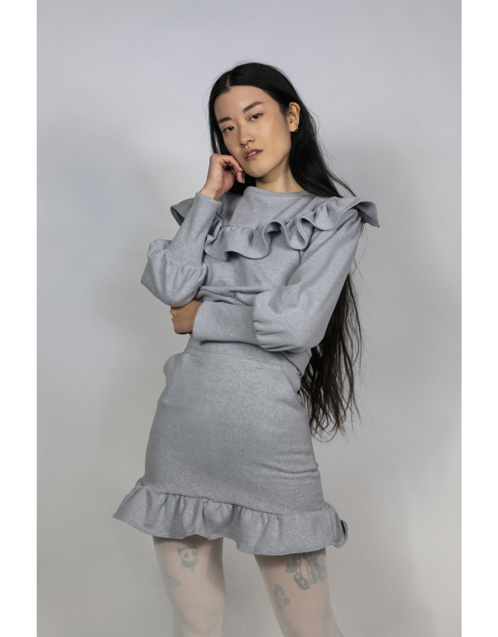 Rightful Owner Chandail coton ouaté gris