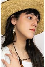 Kazak Boucles d'oreilles Inverness- Blanc