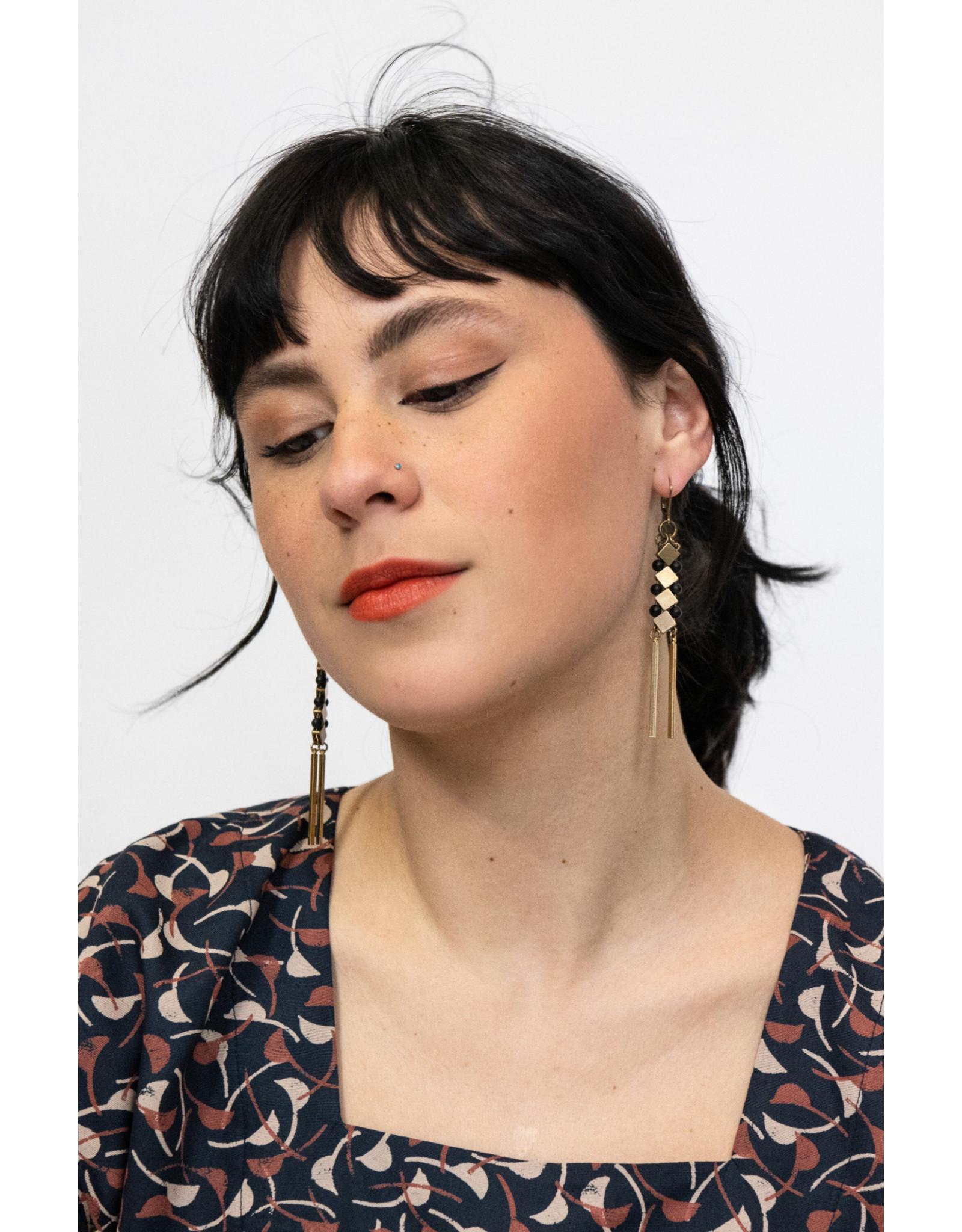Kazak Boucles d'oreilles Inverness- Noir
