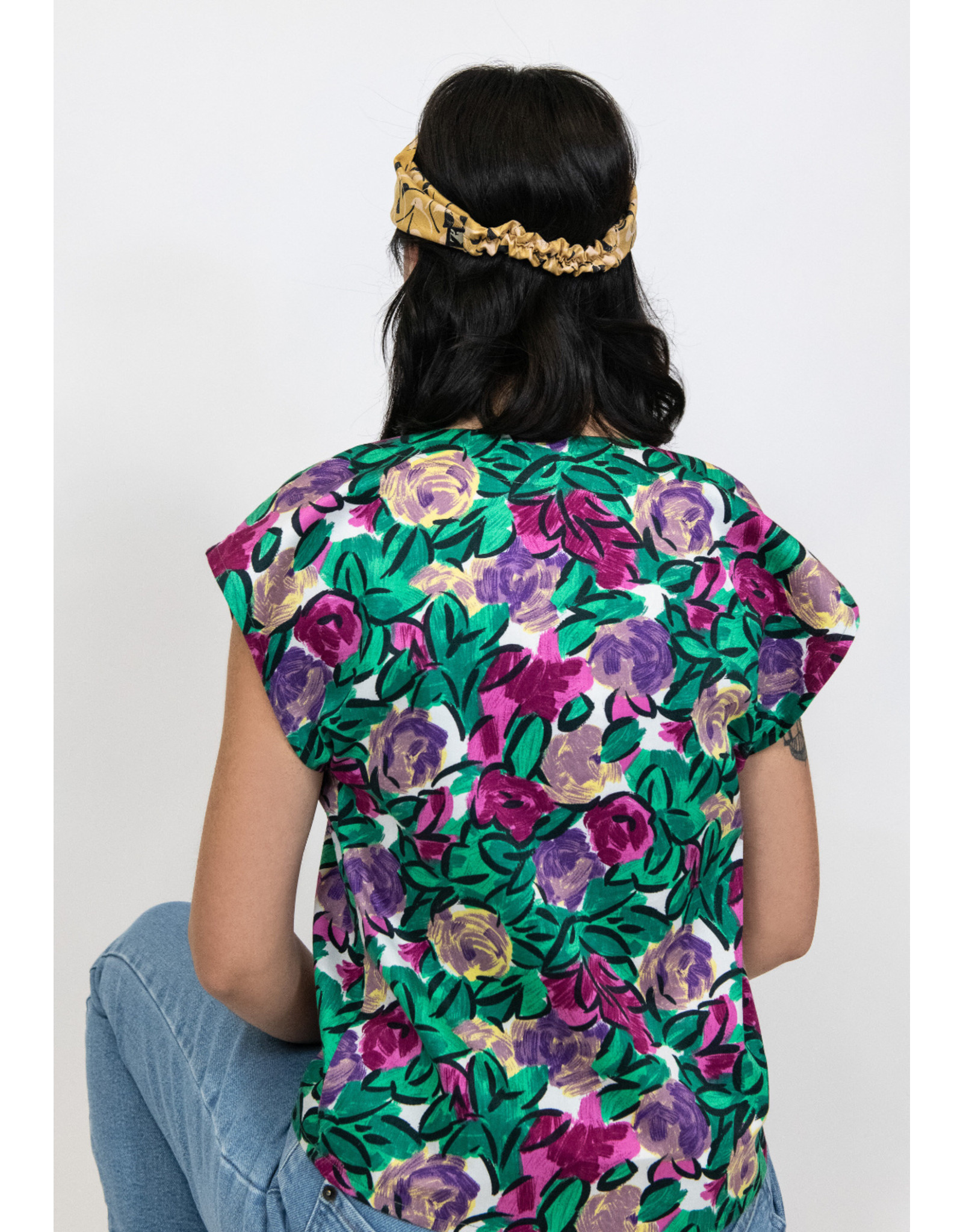 Kazak Haut La Gadelle fleurs fushia