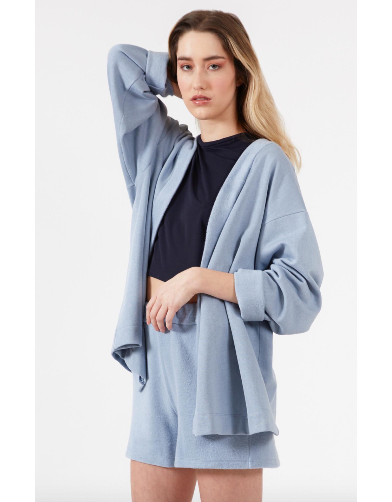 Fcapuano Short Jane coton ouaté bleu