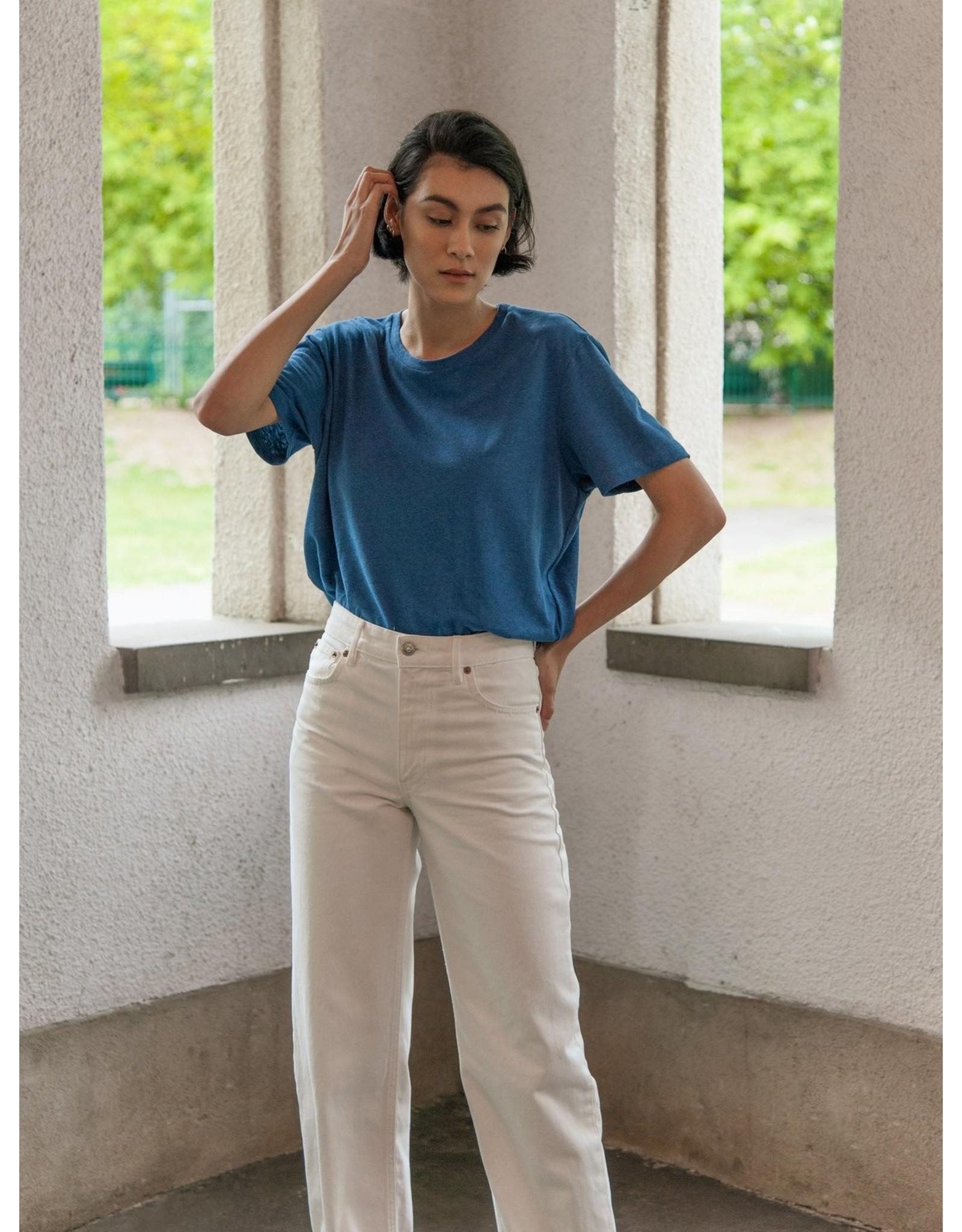 Lépidoptère T-shirt Agathe bleu cobalt