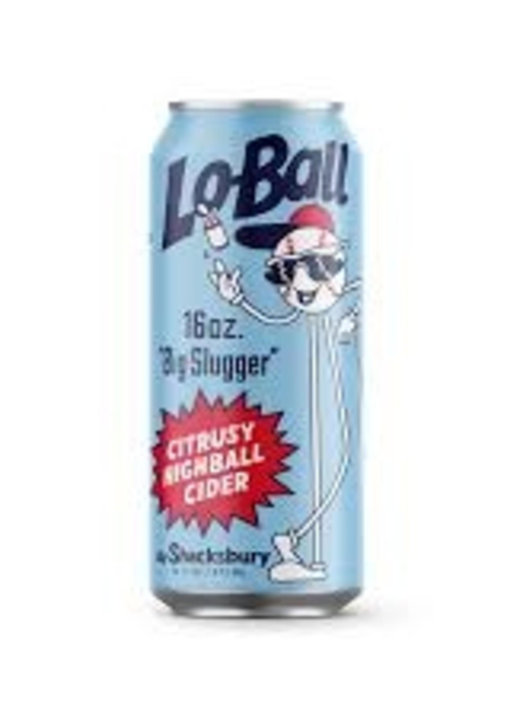 Shacksbury Lo Ball Whiskey Barrel Aged Cider - 4x8oz Cans