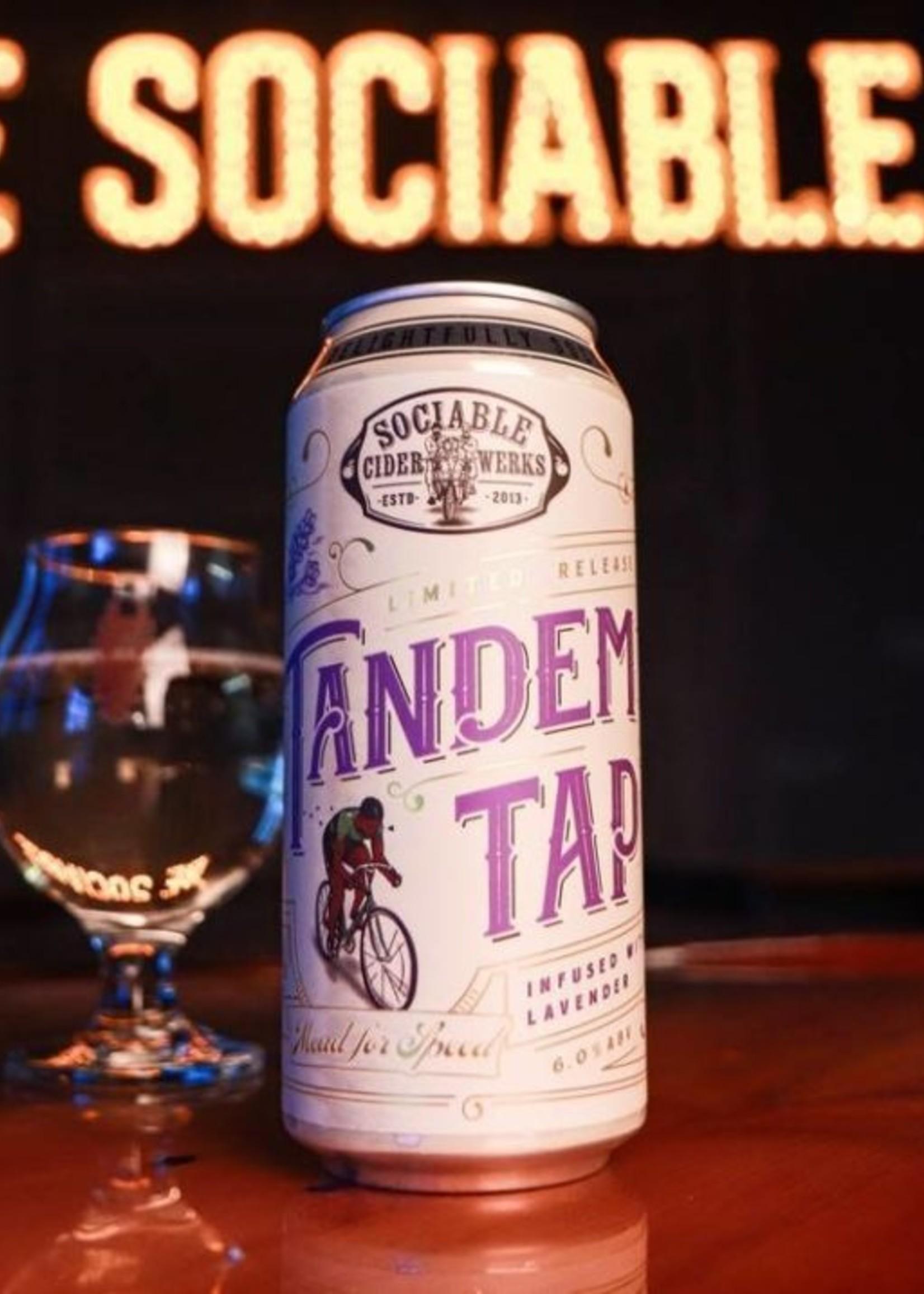 Sociable Tandem Tap Cider - 4x16oz Cans