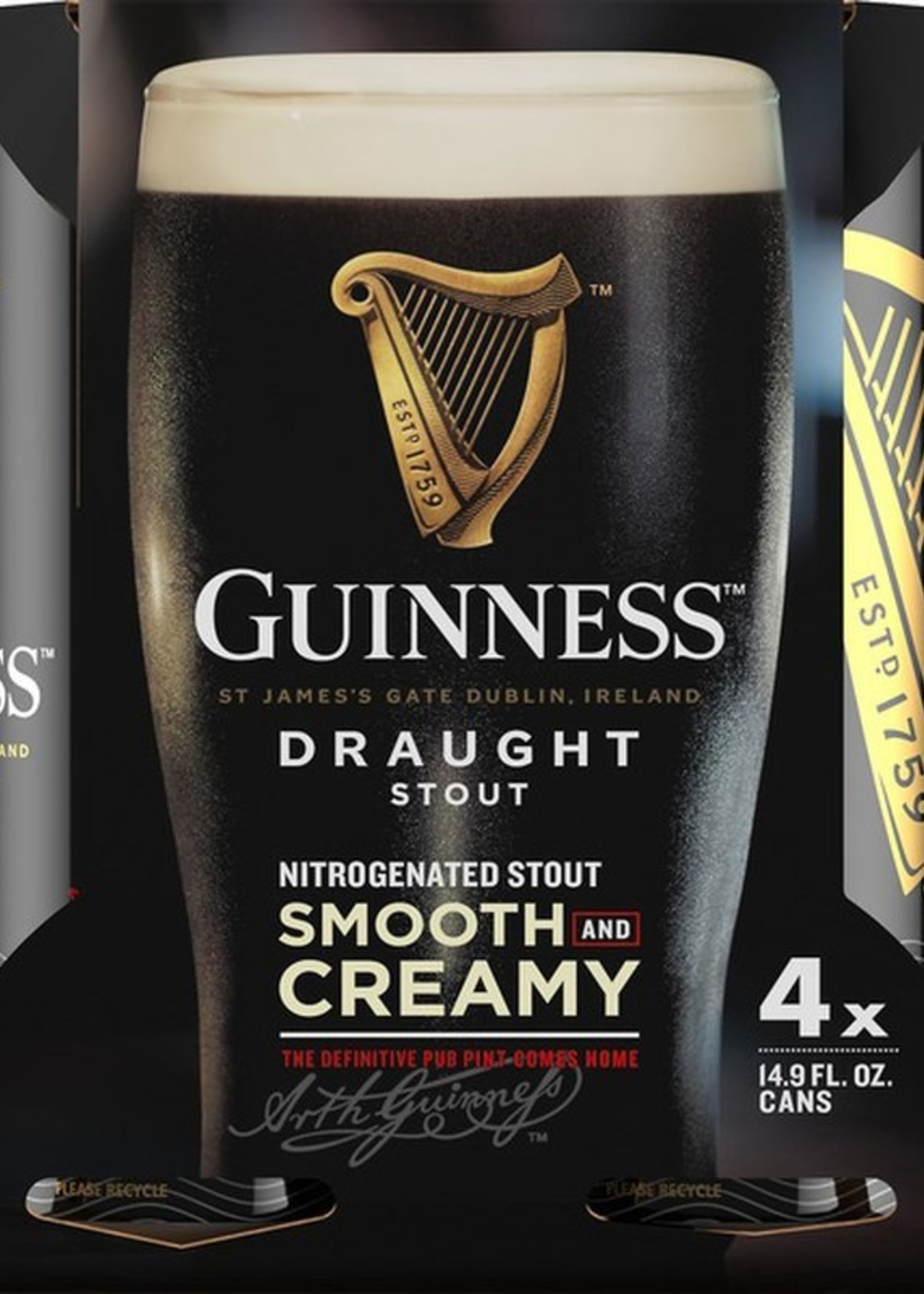 Guinness Draught - 8x16oz Cans Nitro