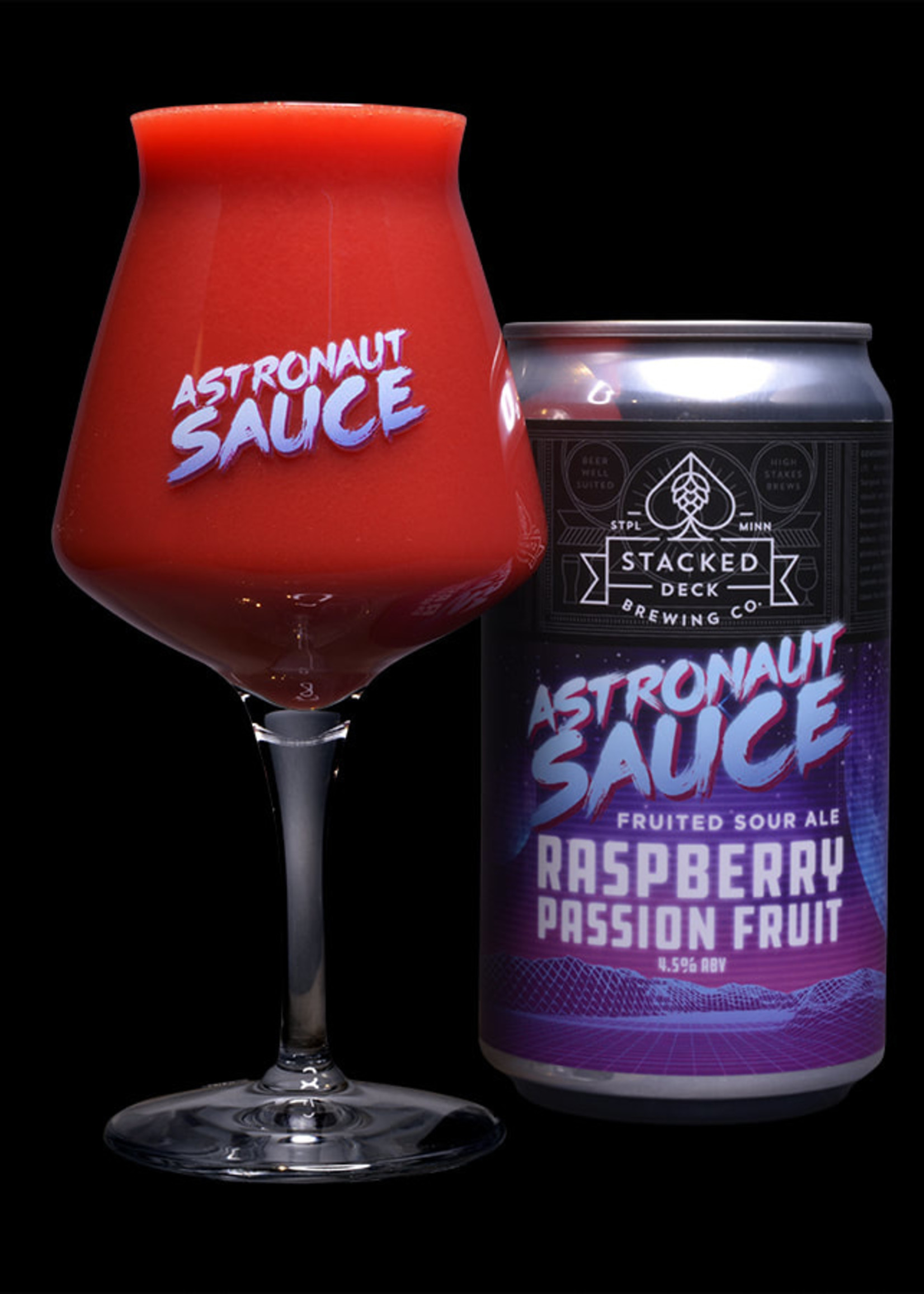 Stacked Deck Raspberry Passion Fruit Smoothie Sour - 4x12oz Cans