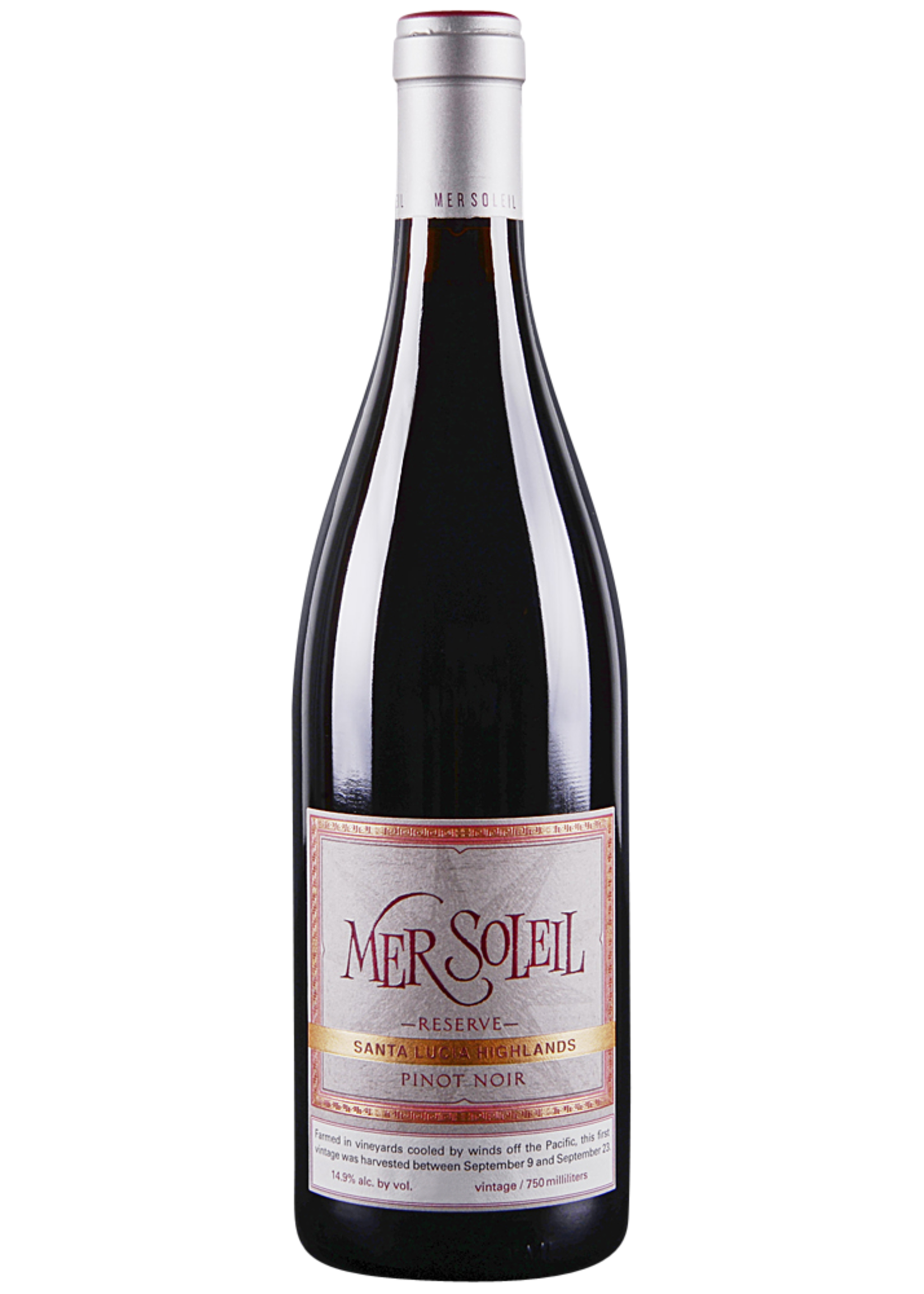 Mer Soleil Reserv Pinot Noir by Camus, Santa Lucia Highlands, CA