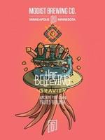 Modist Half Believing Gravity Tangerine/Guava Berliner - 4x16oz Cans