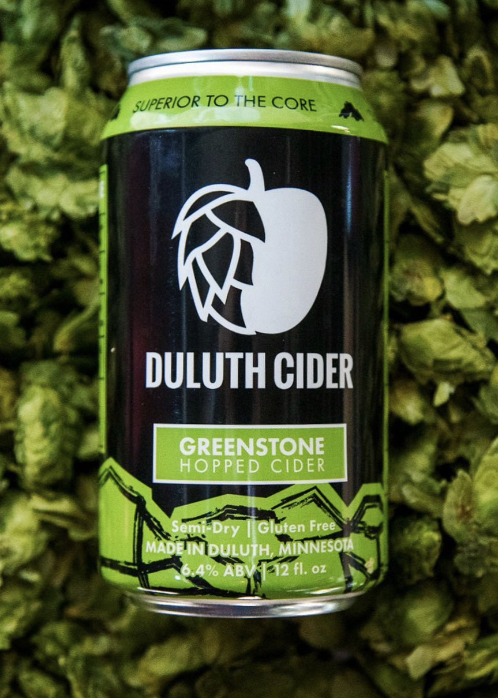 Duluth Cider Greenstone Hopped Cider - 4x12oz Cans