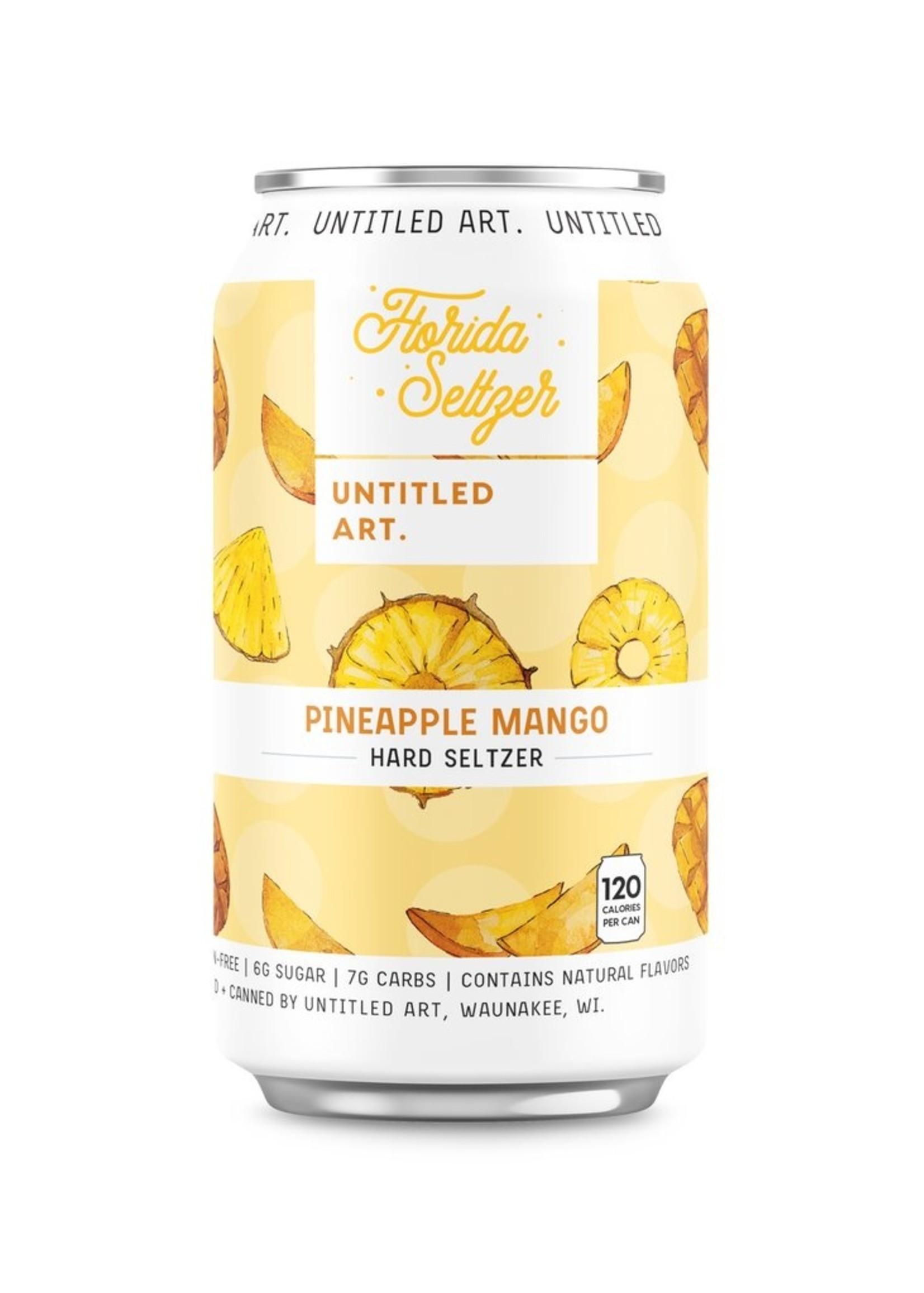 Untitled Art Florida Seltzer Pineapple Mango - 6x12oz Cans