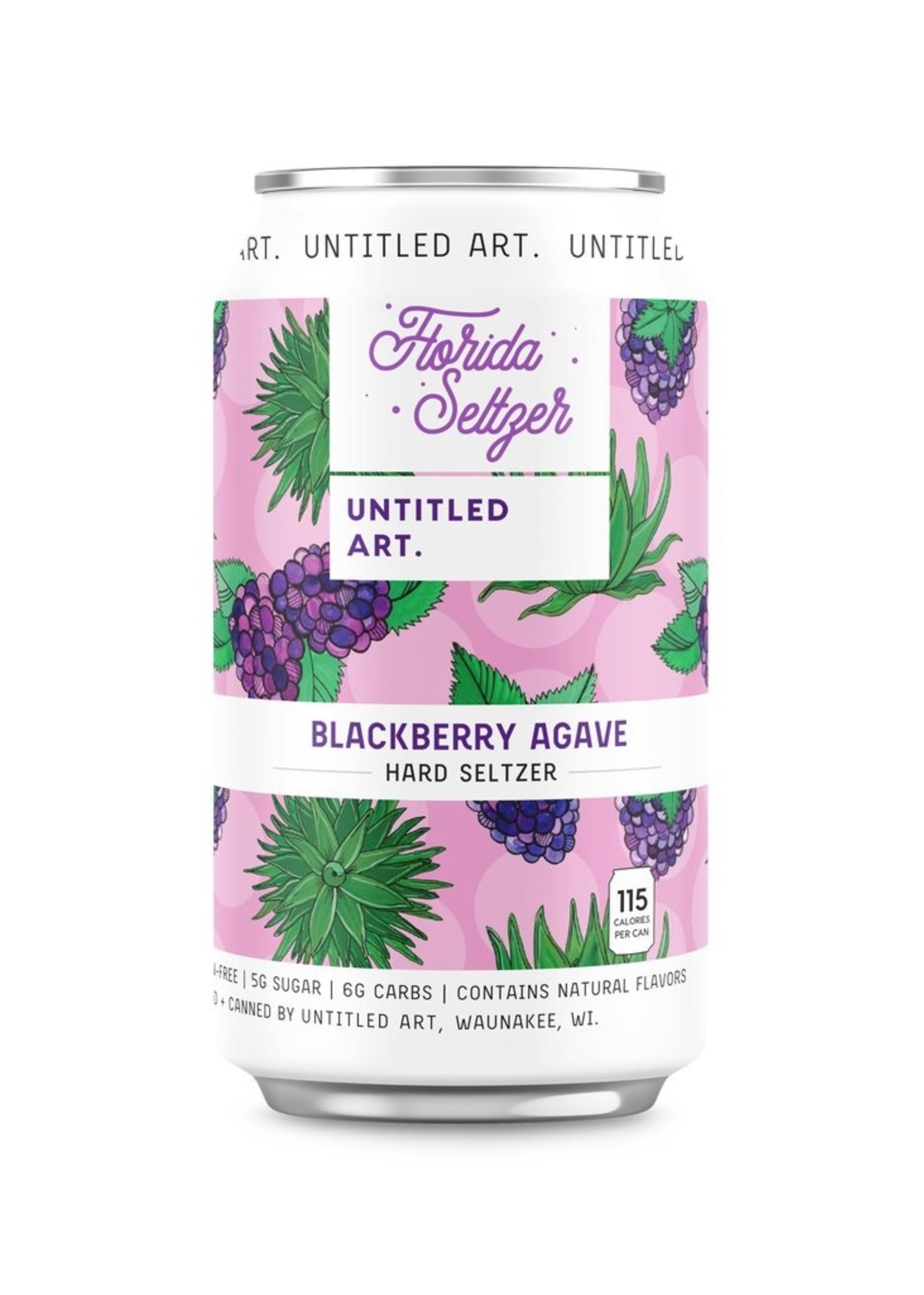 Untitled Art Florida Seltzer Blackberry Agave - 6x12oz Cans