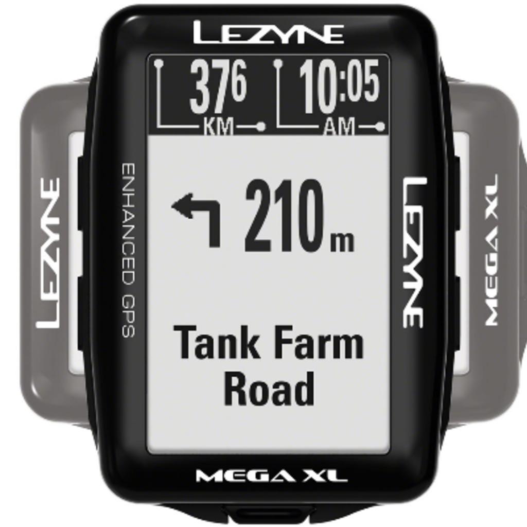 Lezyne Mega XL GPS Bike Computer - GPS, Wireless, Black