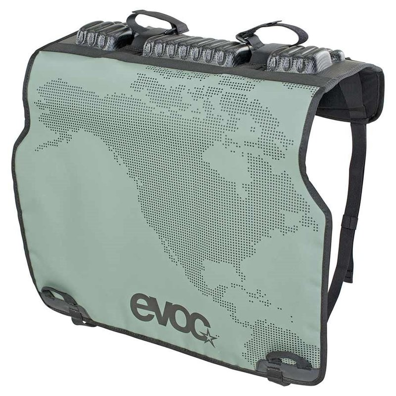 EVOC Tailgate Pad Duo, Fits all trucks, Olive