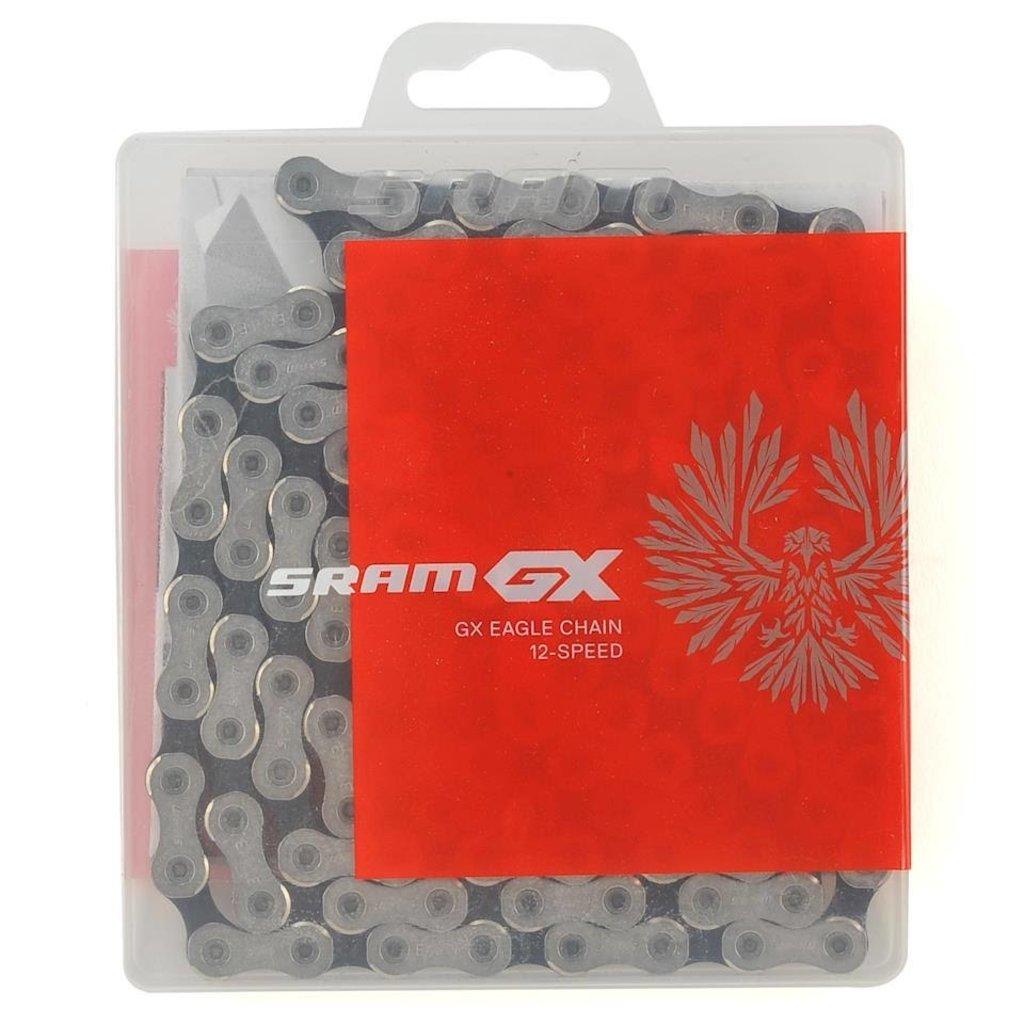 SRAM GX Eagle 12-Speed Chain 126 links With PowerLock, Silver/Gray