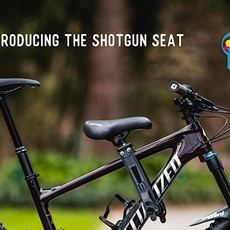 Shotgun MTB Seat for child, On frame