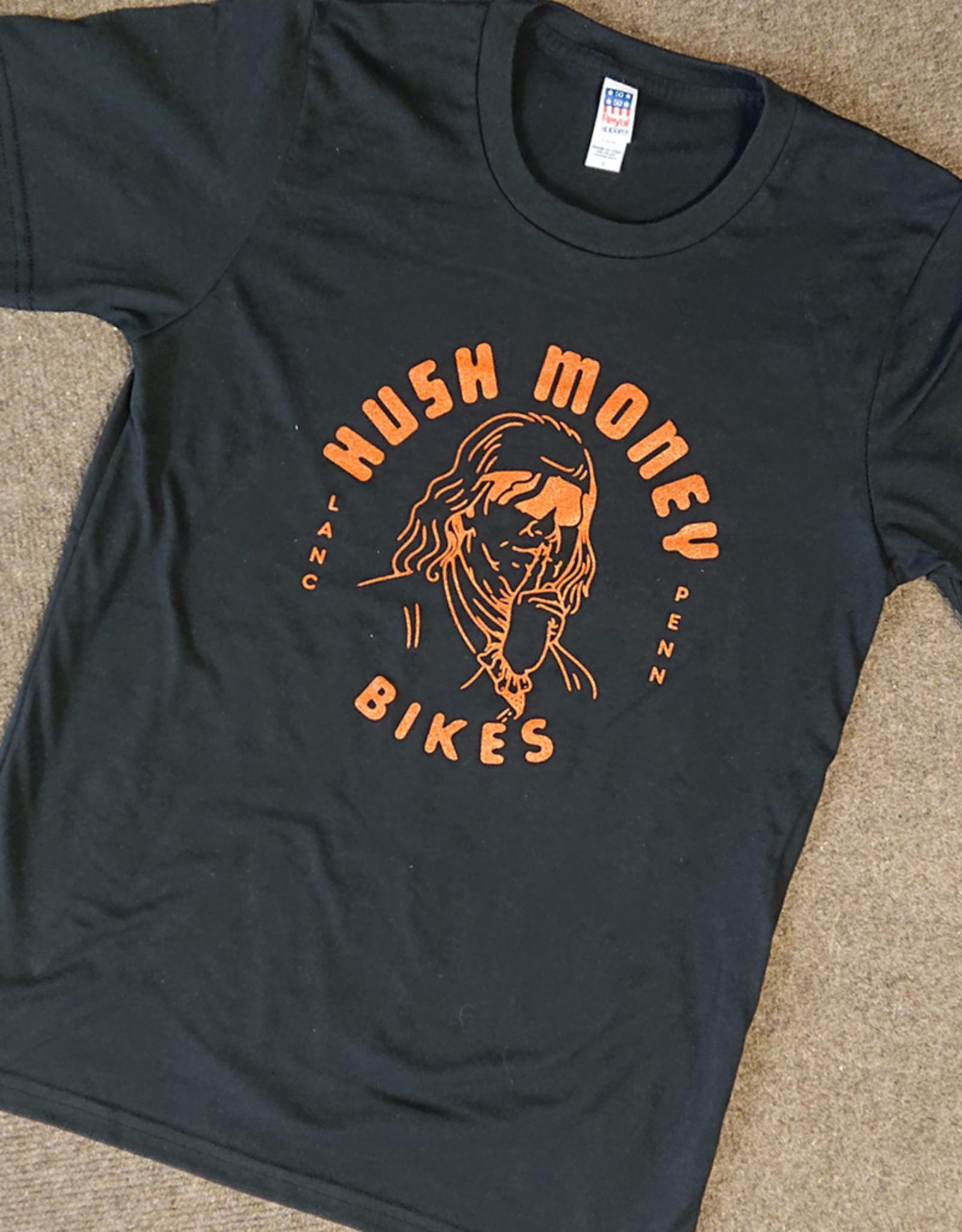 Hush Money Bikes Hush Money Ben Cranklin T-Shirt Flyerdelphia Unisex