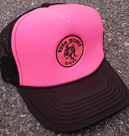 Hush Money Bikes Ben Cranklin Embroidered Foam Trucker Hat Hot Pink