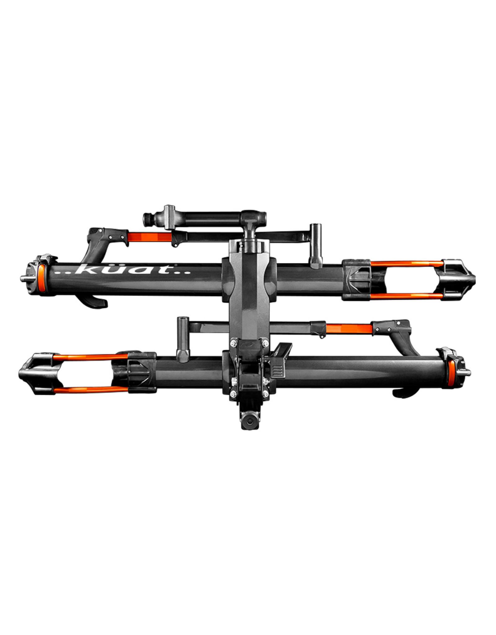 "Kuat NV 2.0 Hitch Bike Rack - 2-Bike, 2"" Receiver, Metallic Gray/Orange"