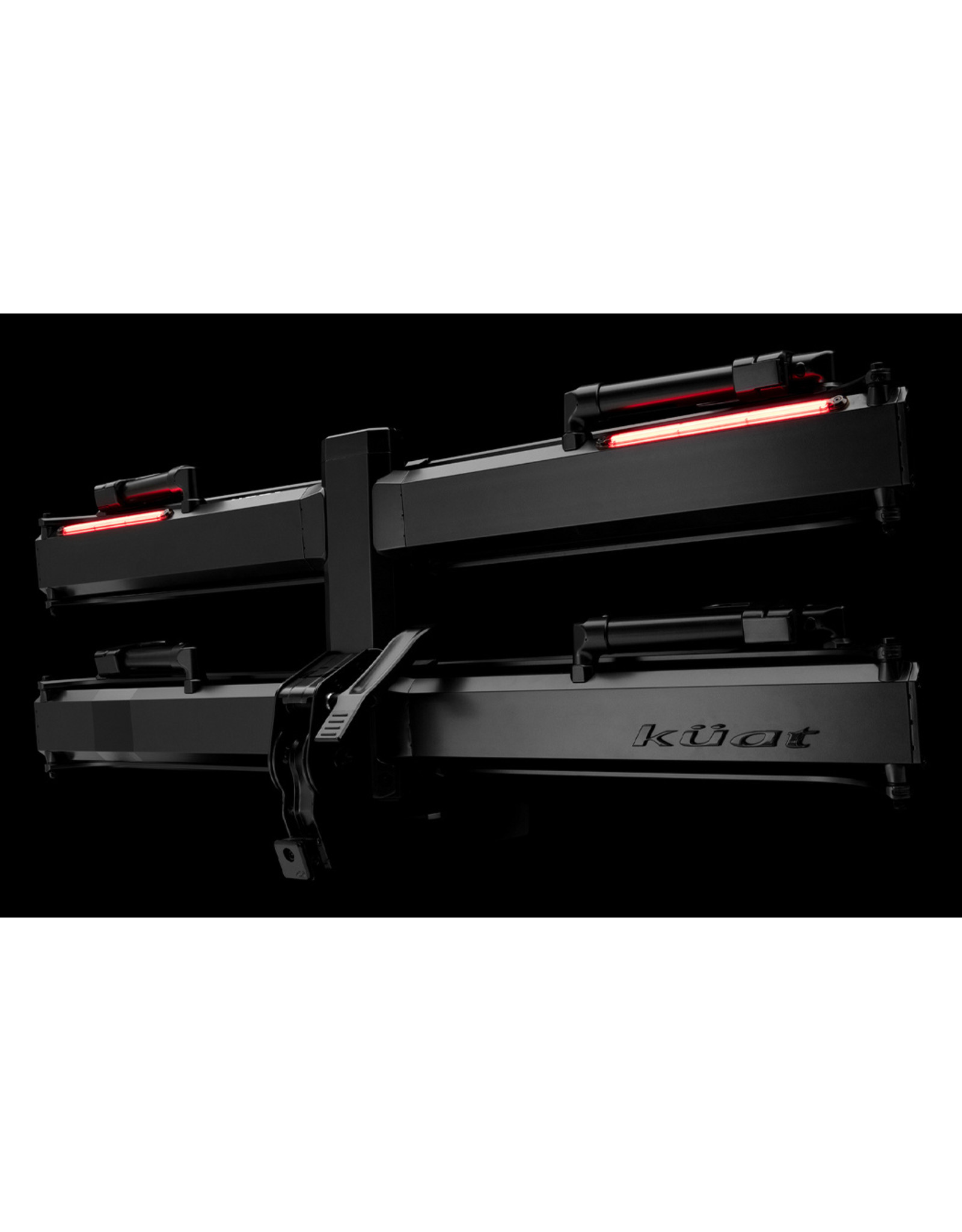 "Kuat Piston Pro X LED Dual Ratchet Platform Rack, 2"" Receiver, Galaxy Grey"