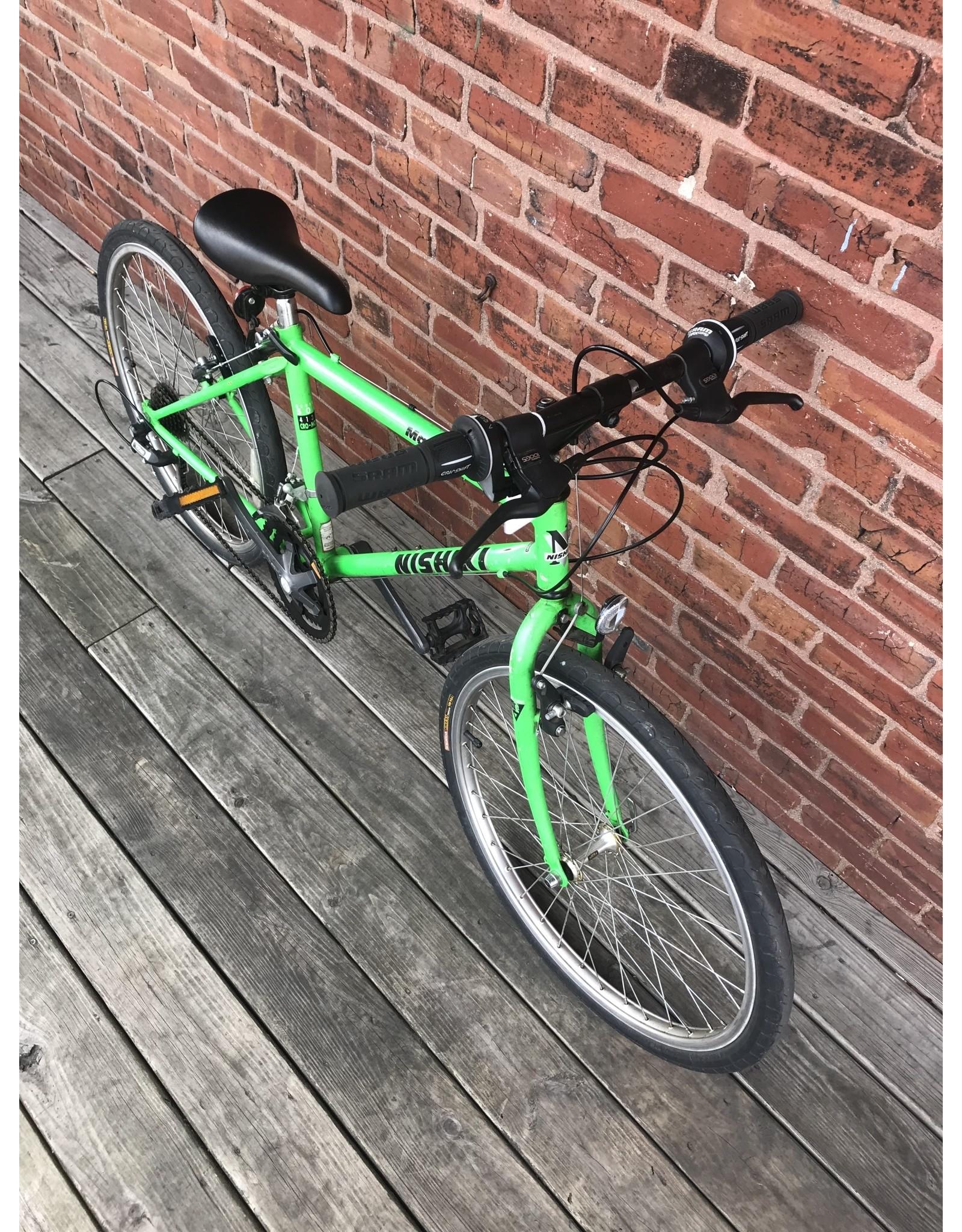 "used bike #9601 green 24"" Nishiki Manitoba"