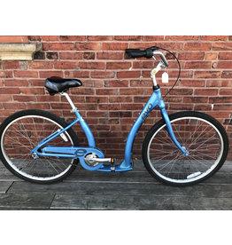 used 3 speed step thru blue bike #9597 Evo Oak Hill