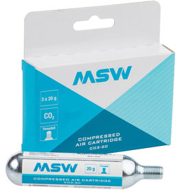 MSW MSW CO2-20 CO2 Cartridge: 20g, 3 Pack