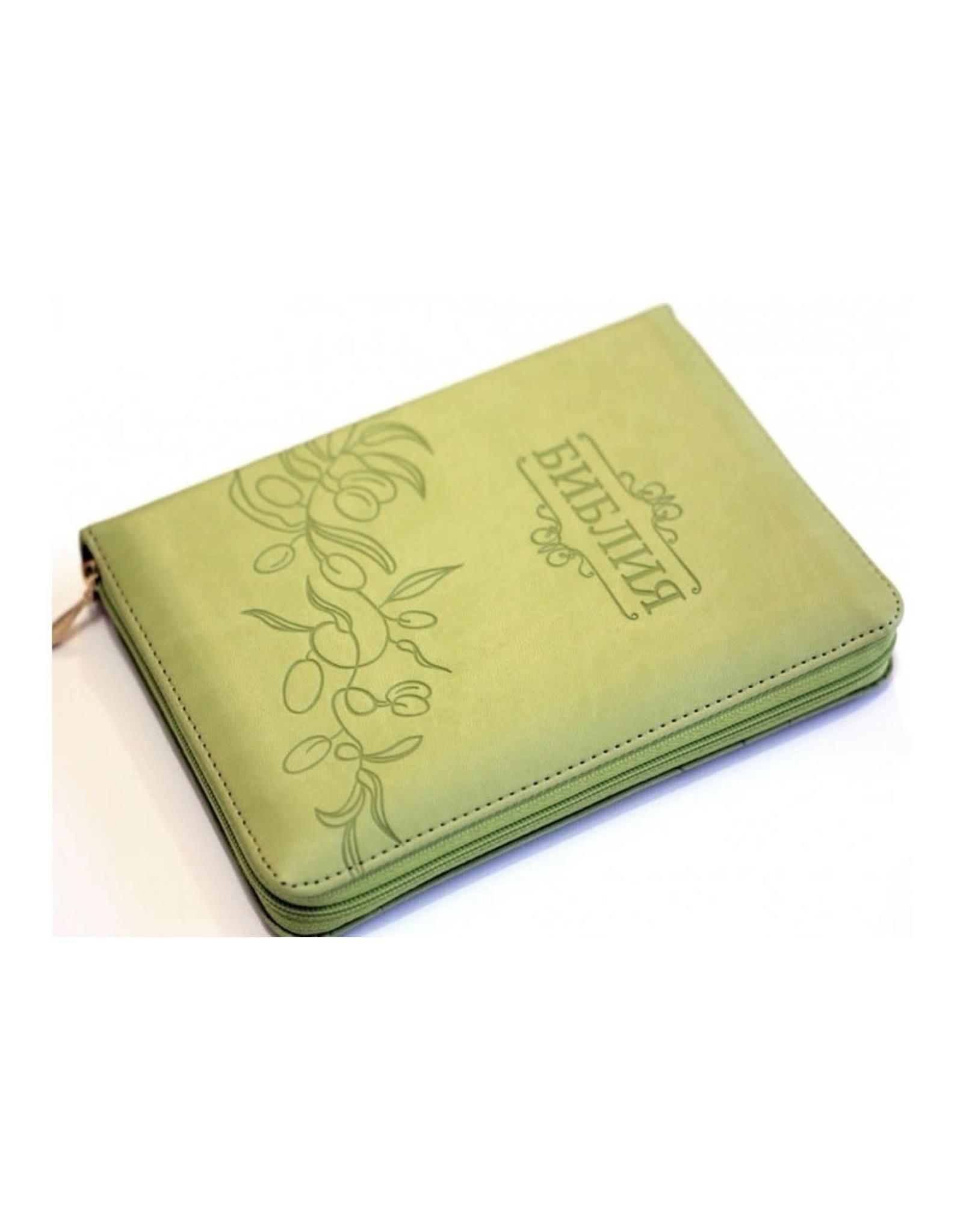 Библия, Каноническая (SYNO), Index, Leather with Zipper, Small