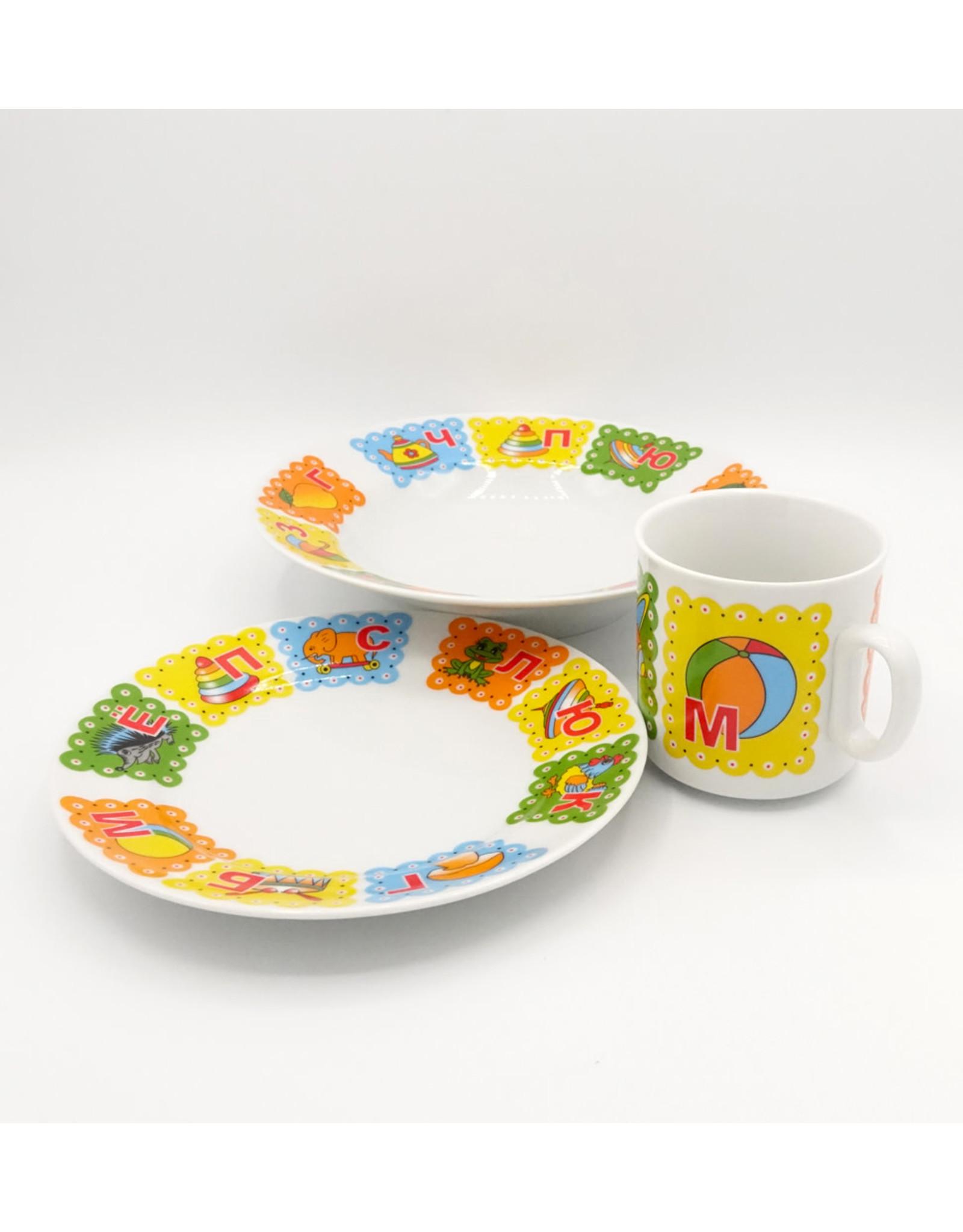 """Набор детской посуды """"Азбука"""" из 3 предм."""